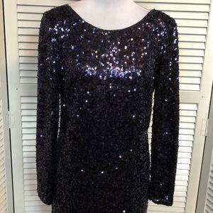 LN Jessica Simpson Navy Blue Sequin Dress-Sz 10